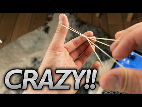 CRAZY RUBBER BAND TRICK - Tutorial