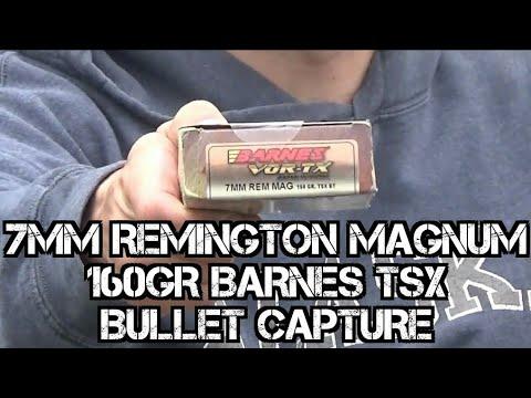 Remington 700 Magpul 7mm Magnum 160grain Barnes Vortex TSX Bullet Capture