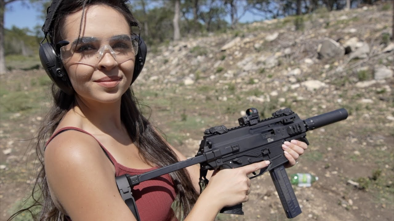 My Sister's First Time Shooting A Gun