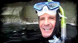 Freediving Cathedral Cave Jellyfish Ambush! Ghasri Valley, Gozo, Malta