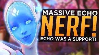 Overwatch: MASSIVE Echo NERF! - Devs Say Echo Originally Was a SUPPORT Hero!