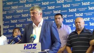 Konferencija za novinare u HDZ-u Gospića/ Snimio MArko Čuljat Lika press