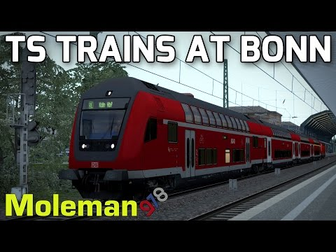 Deutsche Bahn Action at Bonn | TS2016 Railfan Mode