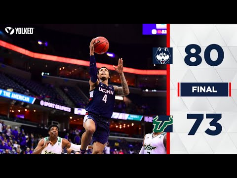 UConn Men's Basketball Highlights v. USF 03/14/2019 (AAC Tournament First Round)