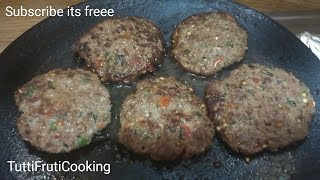 KACHE KEEMA KE KABAB RECIPE | Smoky Kabab (Raw Minced Meat Kebab) (BBQ Style) in Urdu/Hindi/English