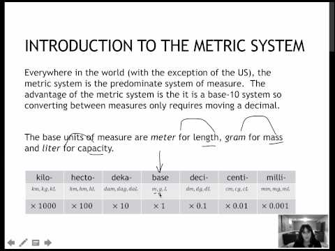 146 Introduction to the Metric System (7.2)