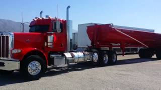 Cowboy trucking peterbilt 388 end dump / super 10 dump truck