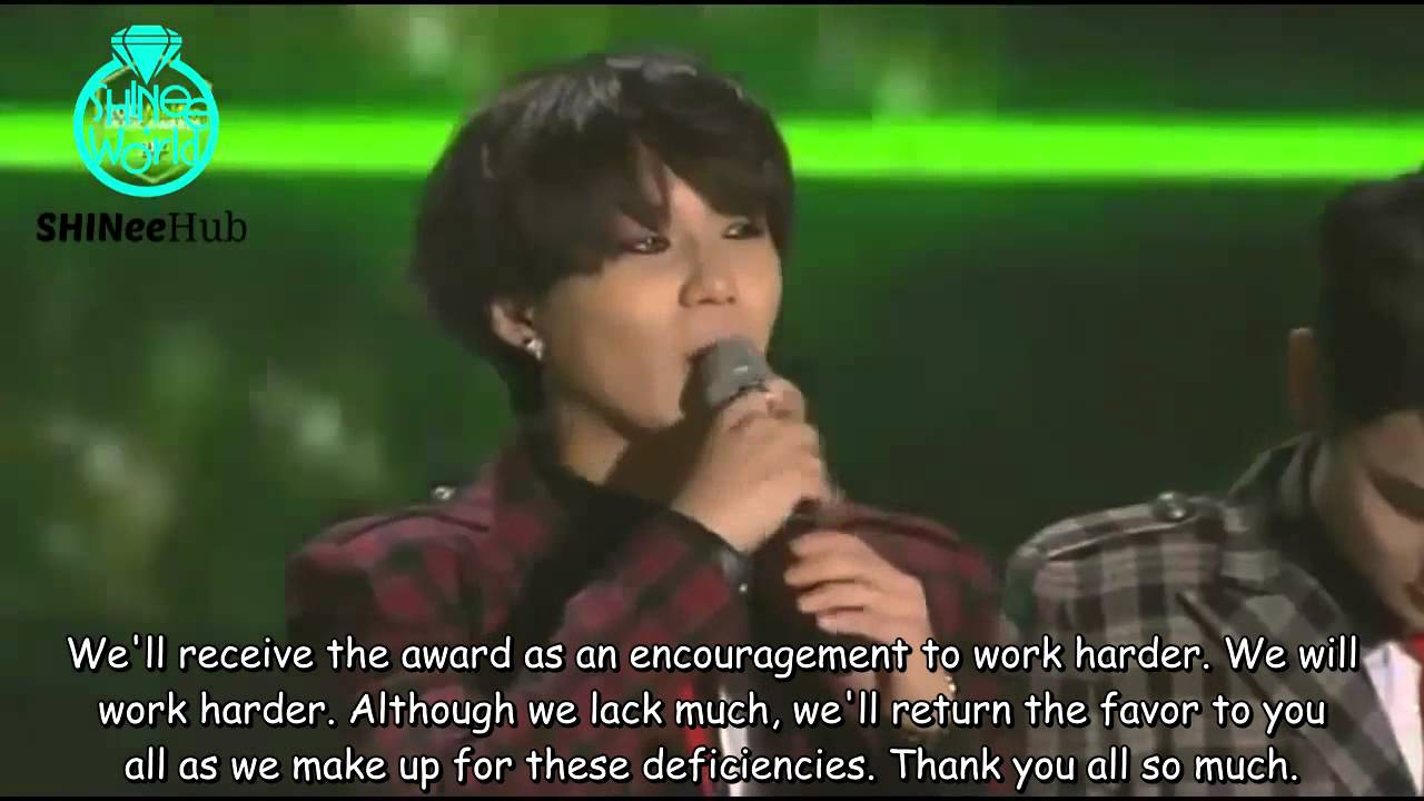 Shinee 2013 Melon Music Awards Artist Of The Year Speech Eng Sub Youtube