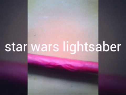 Star wars lightsaber of paper