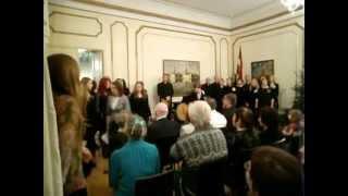 Koris Ziemeļu balsis — Ziemassvētku ieskaņas koncerts vēstniecībā Tallinā
