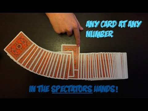 "Amazing ""Any Card At Any Number"" Card Trick! Performance And Tutorial! thumbnail"