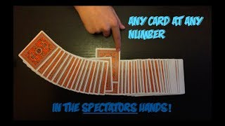 "Amazing ""Any Card At Any Number"" Card Trick! Performance And Tutorial!"
