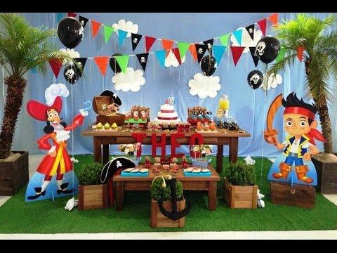 Fiesta de jake y los piratas party 2017 mesa de dulces for Decoracion de mesas dulces infantiles