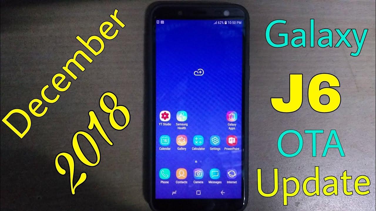 Samsung Galaxy J6 New Software Update - December 2018