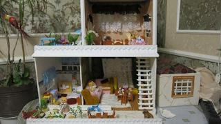 7 часть -кукольный домик из картона  Dollhouse made of cardboard with their hands