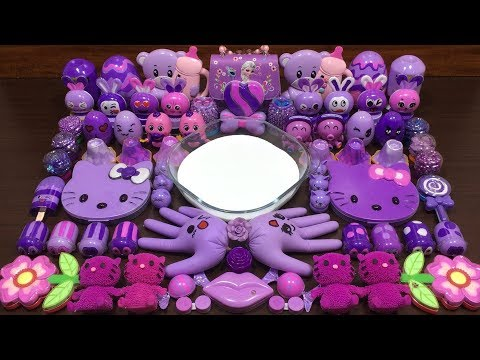 PURPLE SLIME | Mixing Random Things Into Slime | Satisfying Slime Videos #88
