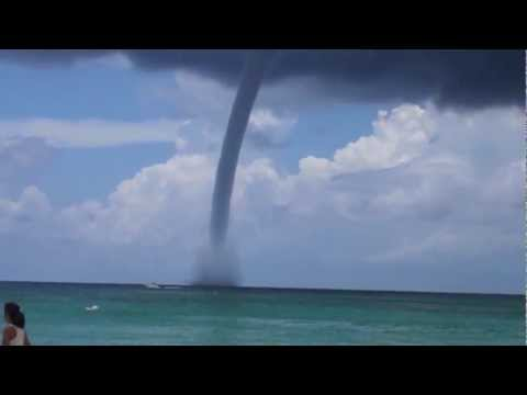Waterspout Off Grand Cayman Island - 7 Mile Beach