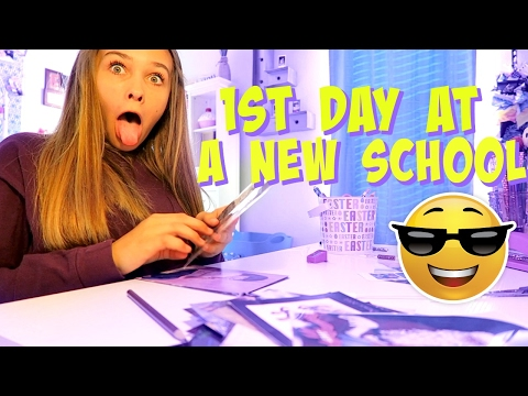 😎 GETTING READY FOR THE 1ST DAY OF SCHOOL! 😎 EMMA AND ELLIE ORGANIZE HER ROOM!