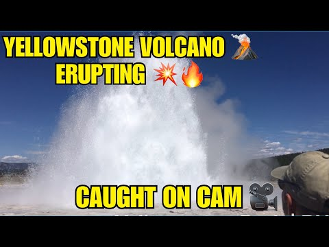 Yellowstone Volcano - Caught on camera Erupting Geyser - Aug 2019 || Toddler Traveler