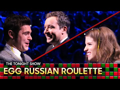 Tonight Show Egg Russian Roulette with Anna KendrickandZac Efron