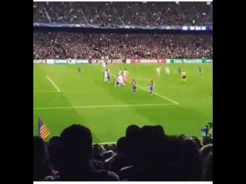 Gol Sergi Roberto desde la Tribuna FC Barcelona 6 - PSG 1 - REMONTADA HISTÓRICA!!