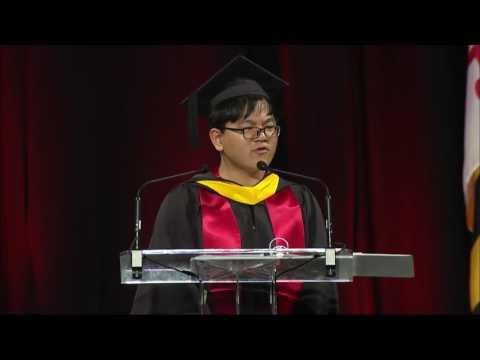 Luye Yang University of Maryland 2017 Commencement Speech