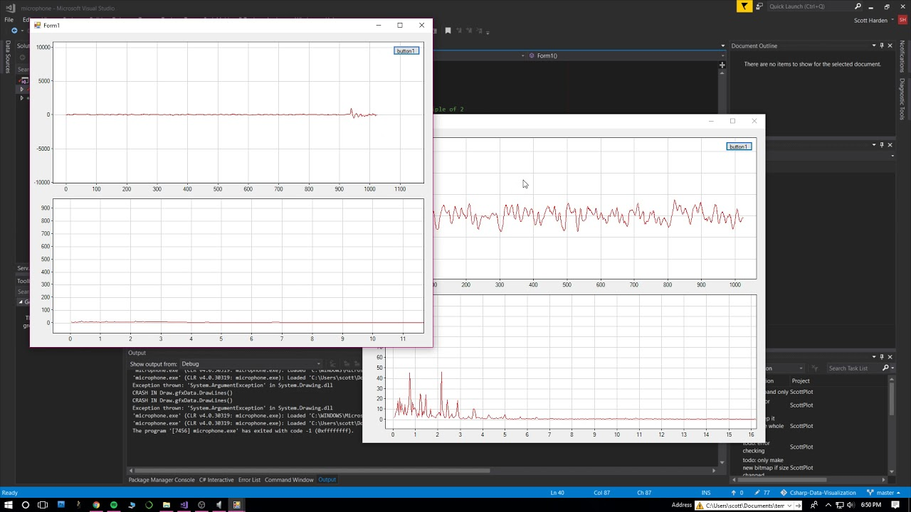 Realtime Microphone Audio FFT Graph with C# (v2)