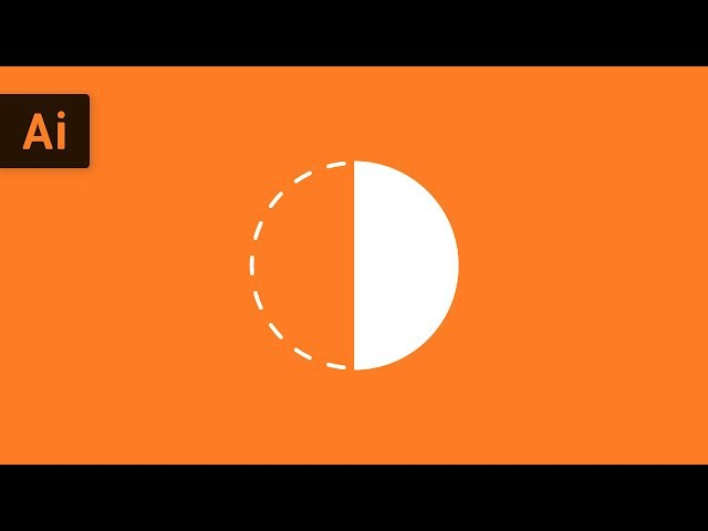 How to Make a Half Circle | Illustrator Tutorial