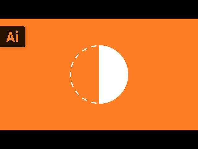 How to Make a Half Circle | Illustrator Tutorial