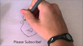 How to Draw Cartoons Episode 4 : Scared Man Face