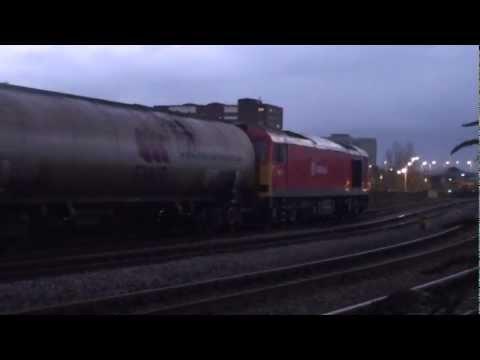 DB Schenker 60011 passes Park Lane Junction with 6D43 Jarrow-Lindsey oil tanks 7th December 2012