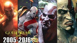 All Scenes God Of War Endings - 2005-2013 [1080P HD 60FPS PS3, PS4]