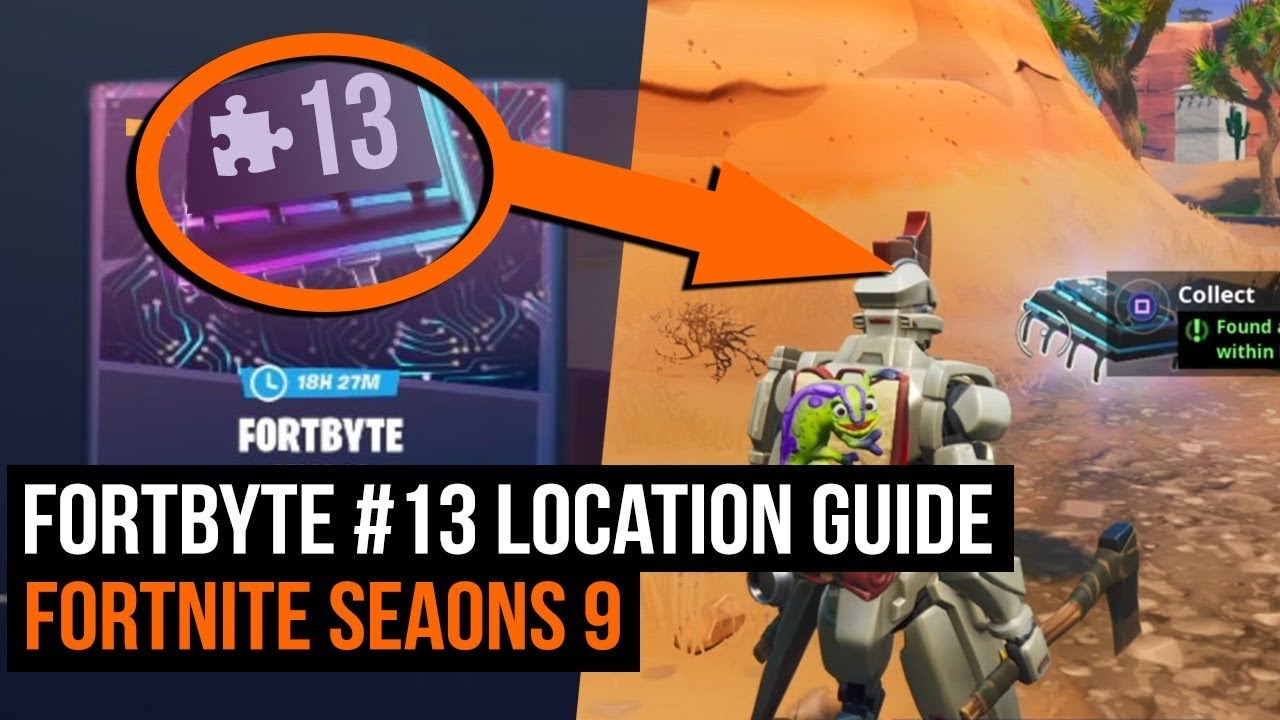 Fortbyte 13 Location Guide Fortnite Battle Royale YouTube