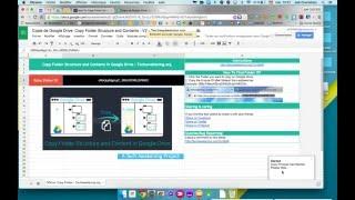 Copier des dossiers entiers dans Google Drive (script)