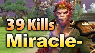 Miracle- Monkey King - 39 KILLS RAMPAGE!!! - Dota 2