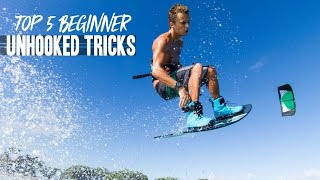 Kiteboarding: Top 5 Beginner Unhooked Tricks!