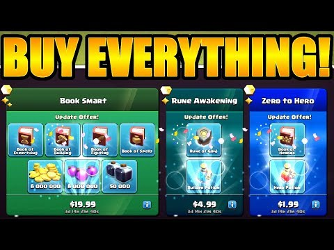 FIRST TIME EVER IN CLASH OF CLANS 🔥 HALLOWEEN UPDATE SPENDING SPREE!