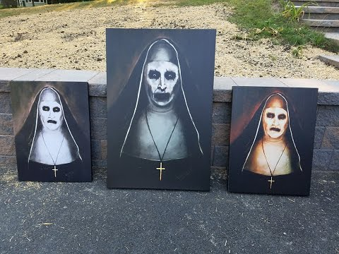 The Conjuring 2 Valak Paintings Horror Prop Replicas