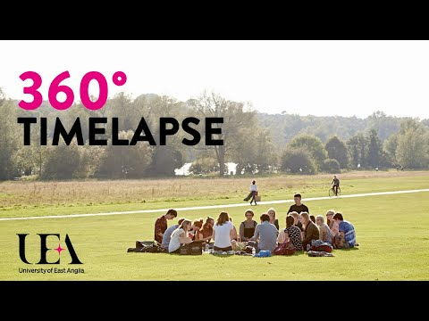 360 Timelapse: UEA in the Sun | University of East Anglia (UEA)