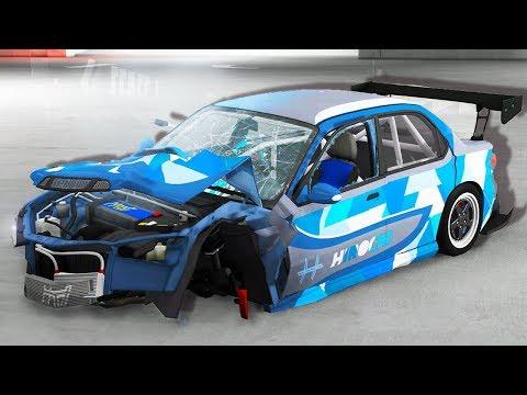 DRIFTING FAIL! - BeamNG Drive Parking Garage Mod