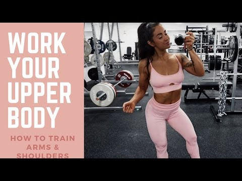 BEST WORKOUT FOR UPPER BODY - ARMS AND SHOULDERS PROGRAM ♥ Follow me to the gym ♥
