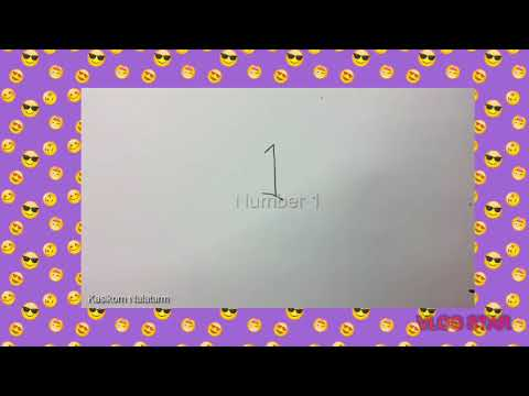 """Drawing Picture- How To Turn Numbers 1-5 Into A """"CARTOON BIRDS """"TUTORIAL"""