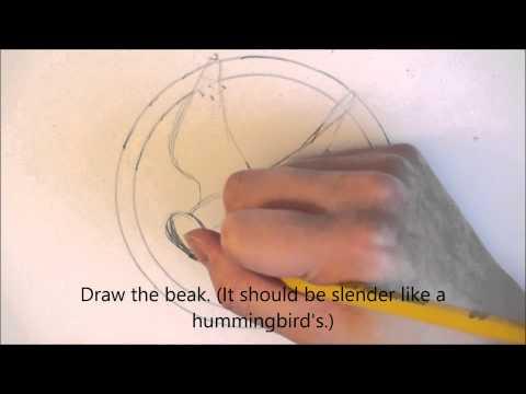 how to draw a mockingjay