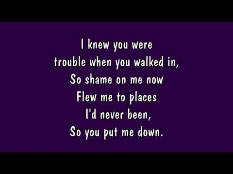 Taylor Swift  I Knew You Were Trouble Lyrics HD