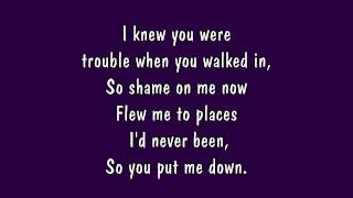 Repeat youtube video Taylor Swift - I Knew You Were Trouble Lyrics (HD)