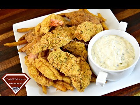 EASY FRIED FISH AND SHRIMP WITH HOMEMADE TARTAR SAUCE |Cooking With Carolyn