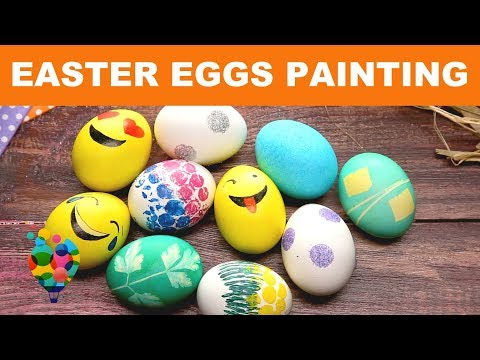 How To Decorate Easter Eggs��? DIY Easter Ideas For Painting Eggs! Easter 2018 | A+ hacks