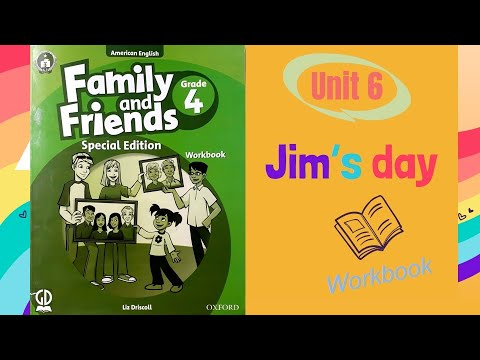Đáp án workbook 4 l unit 6 - Jim's day l Family and friends 4 l @HT channel - English for you.
