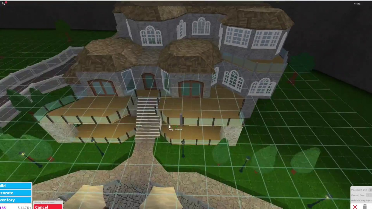 Roblox Bloxburg Villa Build 300k Youtube