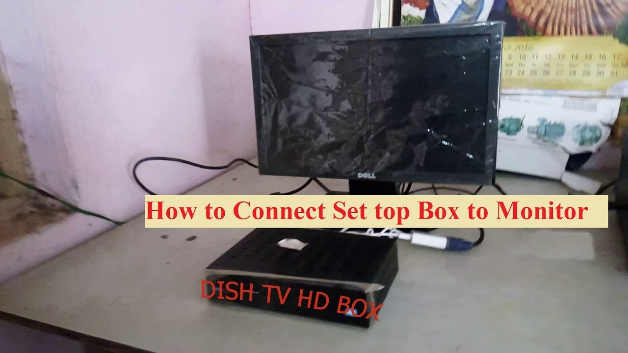 how to connect hd dish tv set top box to computer monitor. Black Bedroom Furniture Sets. Home Design Ideas